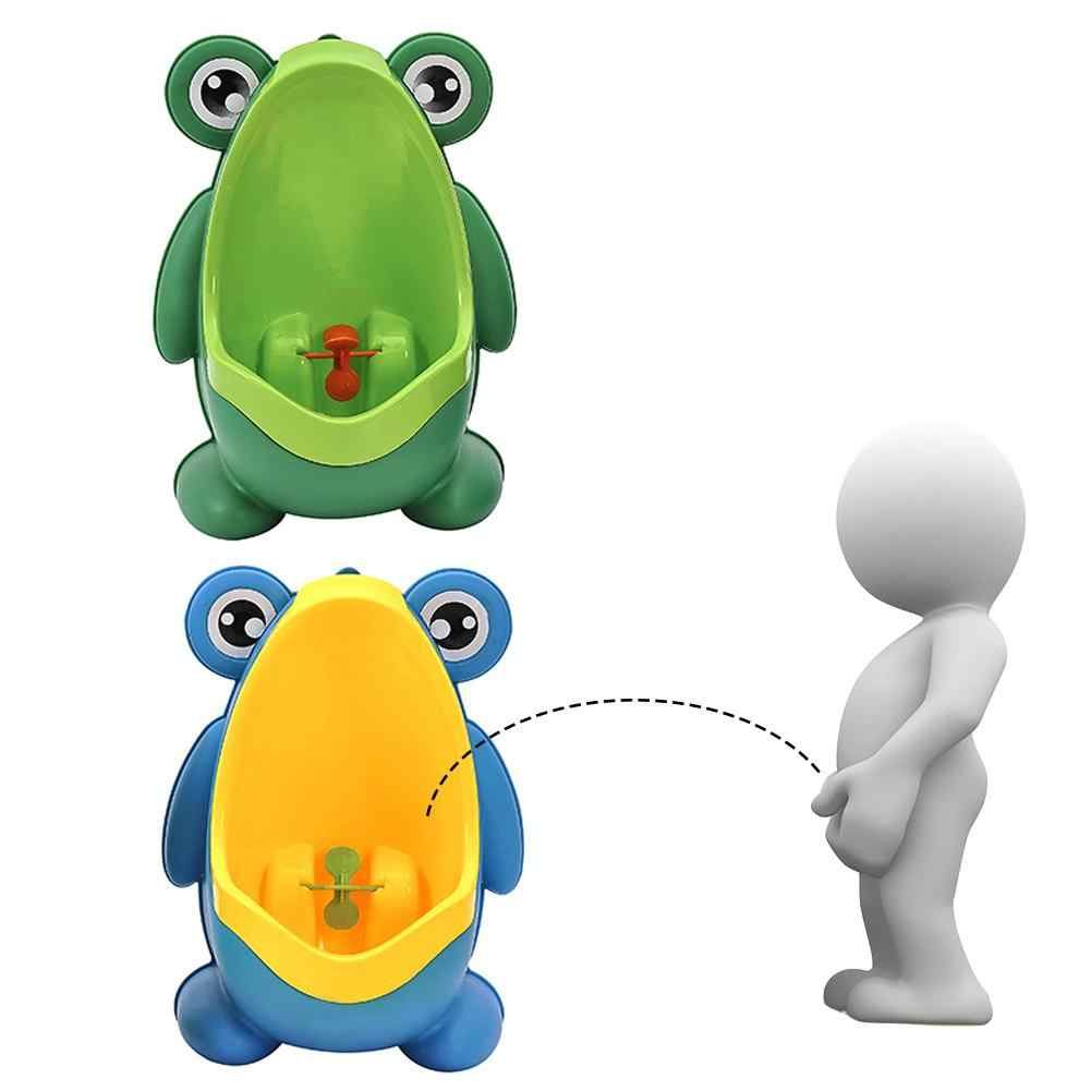 Frog Shape Children Potty Toilet Training Urinal Toy Boys Pee Trainer Supply Wall-Mounted Stand Vertical Urinal Boys Penico Pee