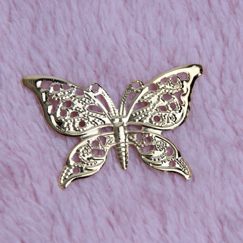 30Pcs Butterfly Filigree Wraps Metal Connectors Crafts for Jewelry Making DIY