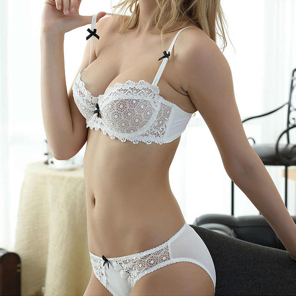 cc946b1839884 Plus Size Womens Lace Bra Underwear Underwire Push Up Bra and Panties Bras  Sets   Briefs
