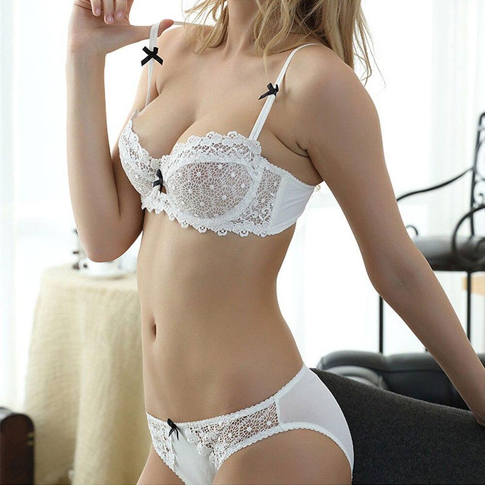 17bc640d3 Cheap Mujer Plus tamaño Sujetador de encaje ropa interior bragas Push Up  Bra y bragas y