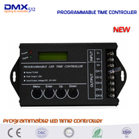DHL Free Shipping 5pcs Lot Time Programable RGB LED Controller Dimmer TC420 5Channel Total Output 20A