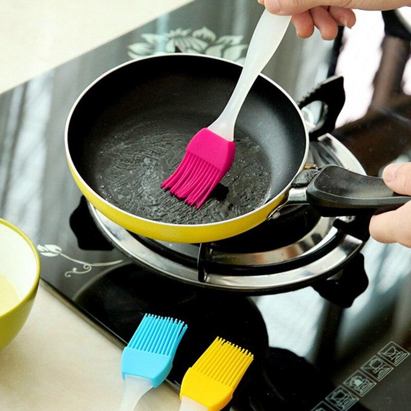 1 pc Silicone Bakeware Bread Cook Pastry Oil Cream Barbecue BBQ Tool Basting Brush Utensil Cake Batter Spatula Scraper