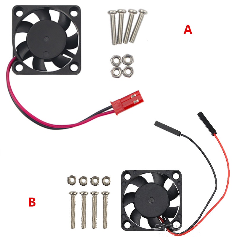 For Raspberry Pi3B Cooling Fan 5V With Screw 2P Brushless Fan 30*30*7 MM Cooling Fan For RPI 3B/3B+