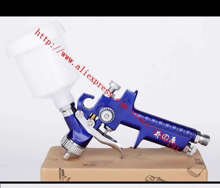 Automotive Leather Goods Furniture Leather Clothing Coating H2000 Hvlp 08  10mm Paint Repair Painting Miniature Spray Gun.