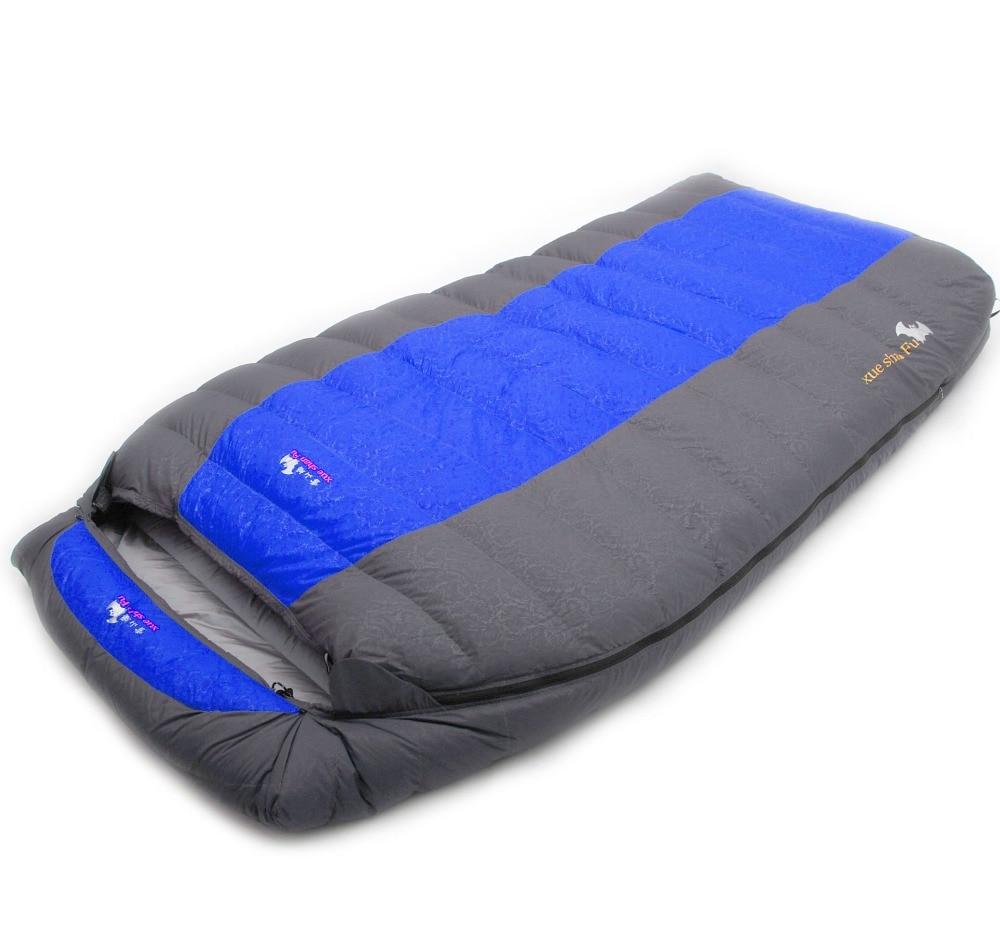 Image 2 - Xueshanfu 2 Person 4500G/5000G Duck Down Filling Professional Warmth Waterproof Comfortable Camping Sleeping Bag Slaapzakcamping sleepingcamping sleeping bagdown sleeping bag -