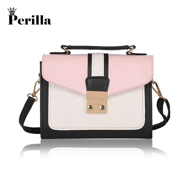 2379a55bab8b Perilla Small Women Bags PU Leather Messenger Bag Clutch Bags Designer Mini  Shoulder Bag Women Handbag Hot Sale Purse New