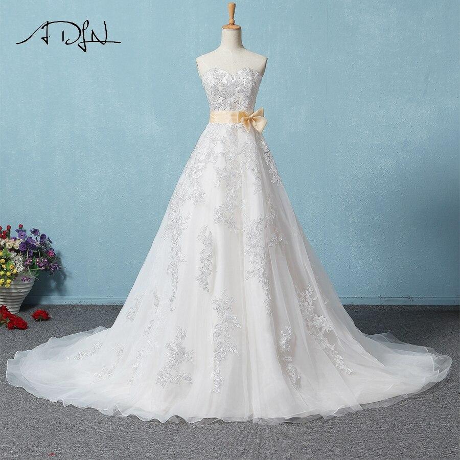 ADLN Elegant Sweetheart Applique A line Wedding Dress Gorgeous ...