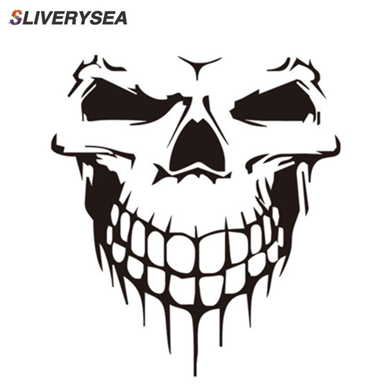 Image 2 - 16CM*18CM Car Stickers JDM 3D Skull Car Window PVC Vinyl Motorcycles Decoration Funny Car Sticker and Decals Car Styling-in Car Stickers from Automobiles & Motorcycles