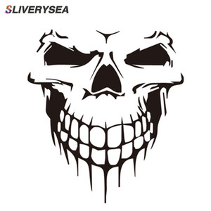 Image 2 - 16CM*18CM Car Stickers JDM 3D Skull Car Window PVC Vinyl Motorcycles Decoration Funny Car Sticker and Decals Car Styling