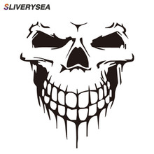 SLIVERYSEA Auto Reflective Skull Car Stickers Styling Removable Waterproof Decoration Monster Fashion Vinyl Decal Sticker