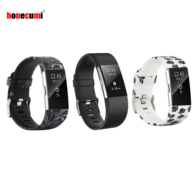 Honei 3 Pack Replacement Accessory Bracelet Band For Fitbit Charge 2 Small Large Silicone Wrist Strap