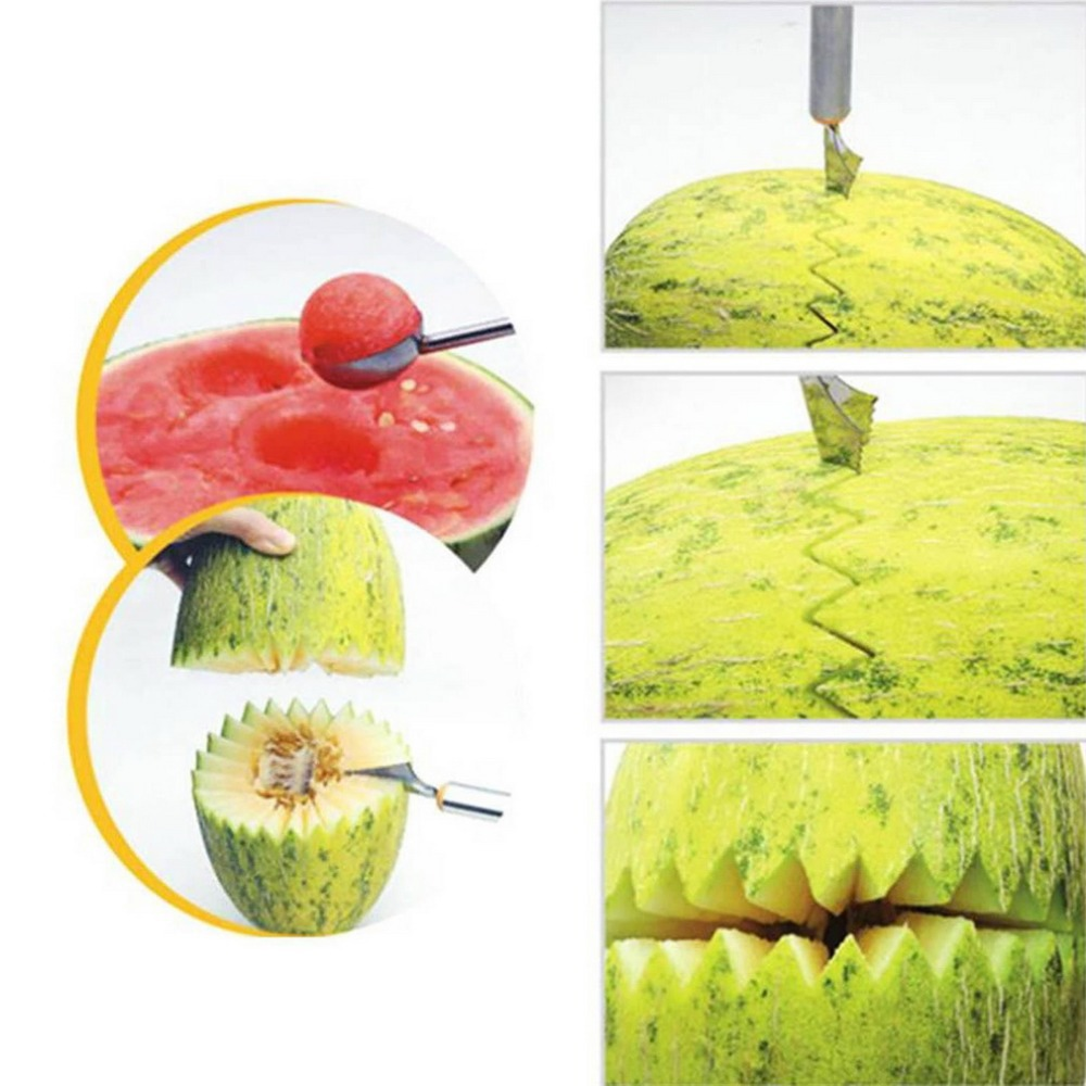 Home Kitchen Bar Fruit Carving Cutter Watermelon Cantaloupe Melon Dig Ball Scoop Hot Search