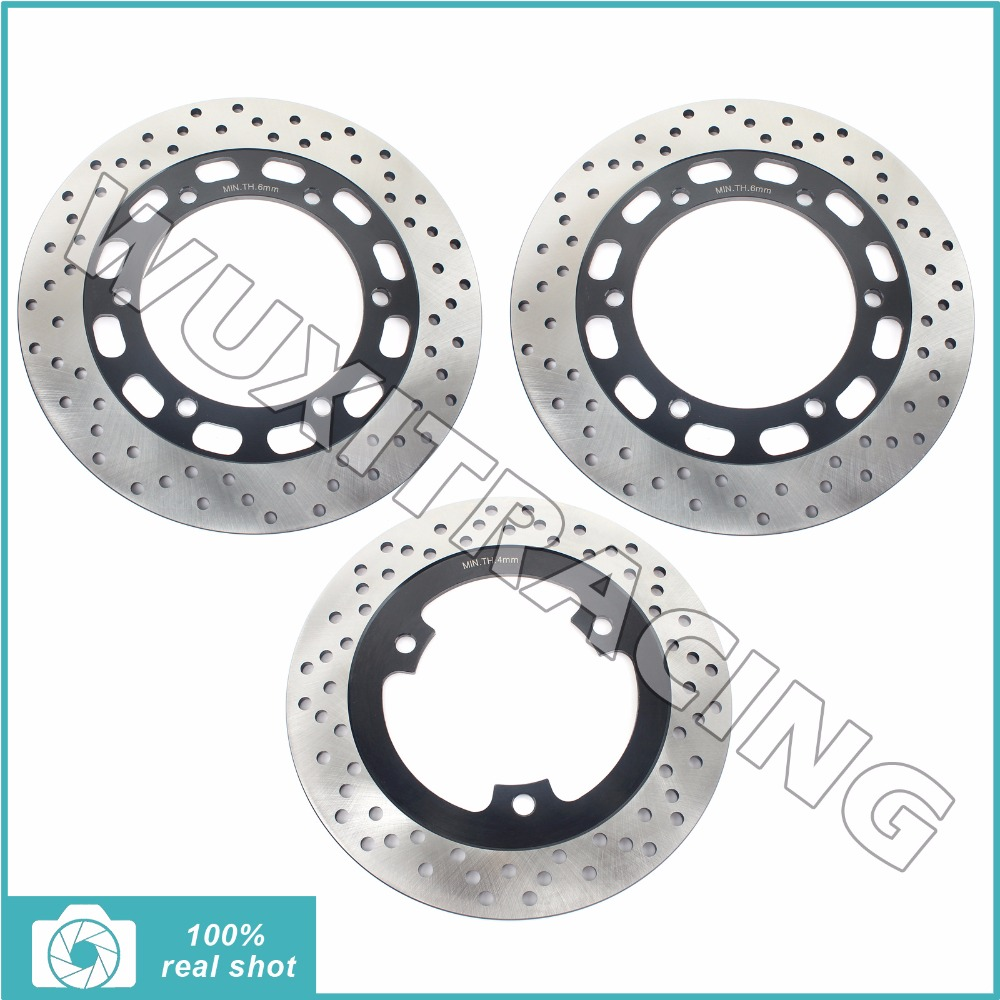 Подробнее о 1994 1995 1996 1997 1998 1999 2000 2001 2002 2003 2004 New Full Set Front Rear Brake Discs Rotors for KAWASAKI GPZ 500 S GPZ500S fit kawasaki zr7 s 1999 2003 brake