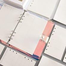 45 шт Высококачественная записная книжка a5/a6 запасная вставка