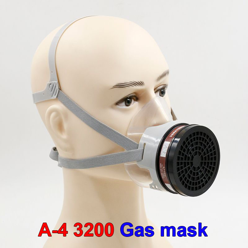 A-4 protective mask High quality silica transparent respirator gasmaske pesticides paint spraying industrial safety safety mask high quality respirator gas mask provide silica gel gray protective mask paint pesticides industrial safety mask