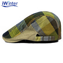IWINTER New Autumn Cotton Berets Caps For Men Casual Peaked Caps British Style Berets Flat Boina Berets Cap Hat Bone Gorras(China)