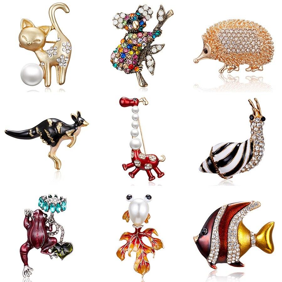 Lindo mujer de aleación Jirafa Con Forma De Animales Metal Broche Collar Pin Joyería de Moda