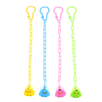 Baby Infant Pacifier Chain Clips Chain Holder 4pcs Cartoon Bird Baby Kids Chain Clip Holders Dummy Pacifier Nipple Strap