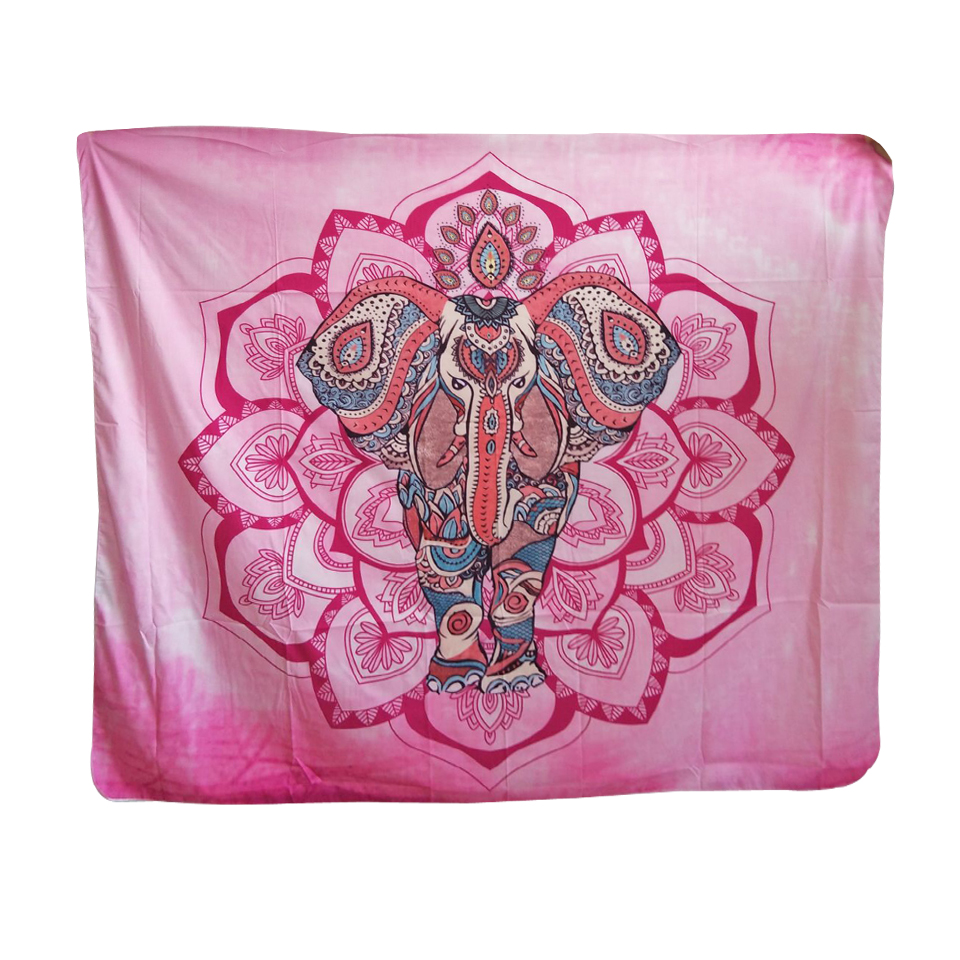 Papa&Mima Indian Traditional Elephant Pink Tapestries