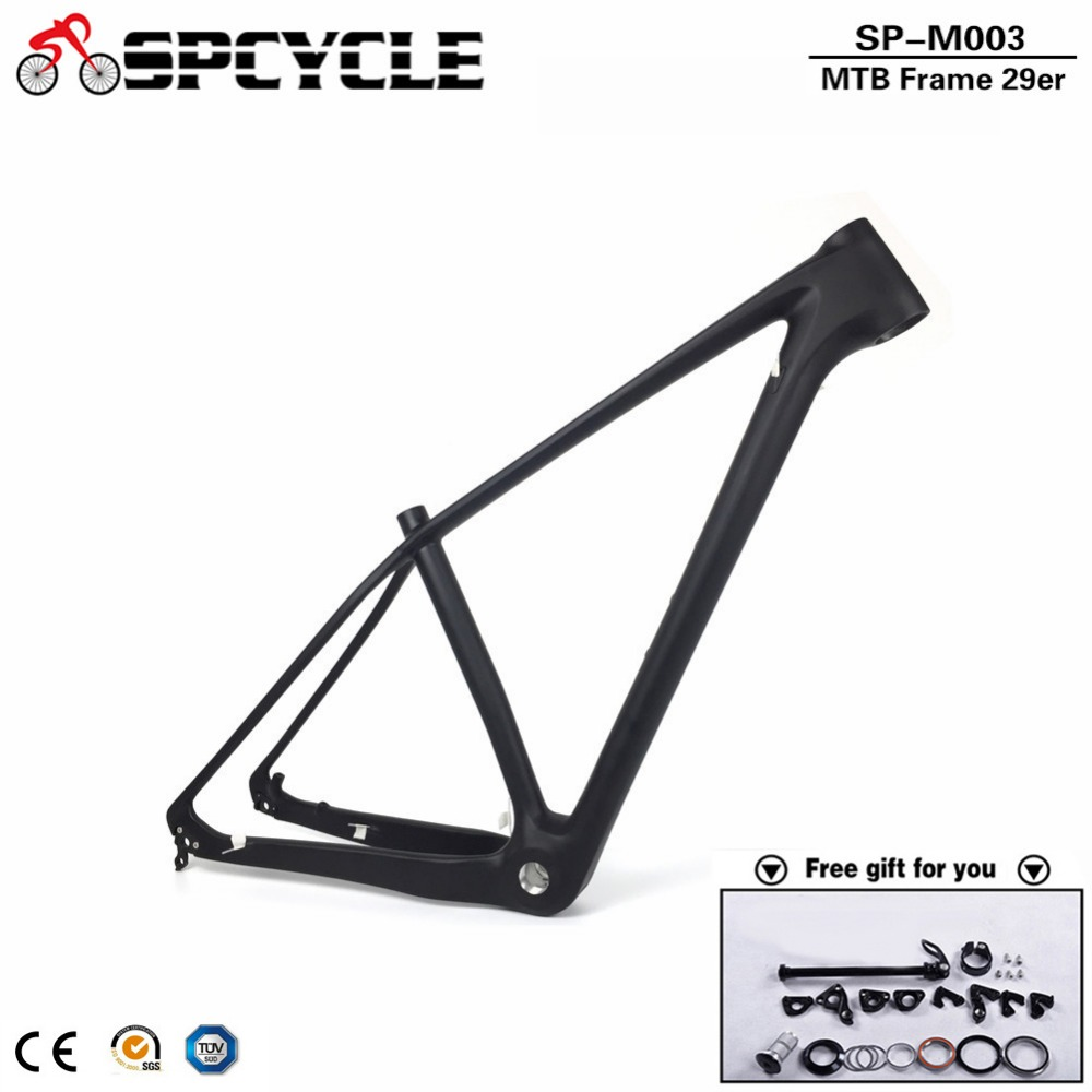 2018 New Full Carbon MTB Frame 29er T1000 Carbon Mountain Bike Frame China Factory Cheap Carbon MTB Bicycle Frame BSA 73mm цена