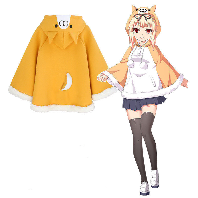 Cute Shiba Inu Doge Corgi Animal Kawaii Warm Cotton Cloak  Coat Girls