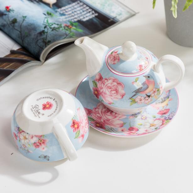 Pastoral style teapot set ceramic tea set teapot cup and
