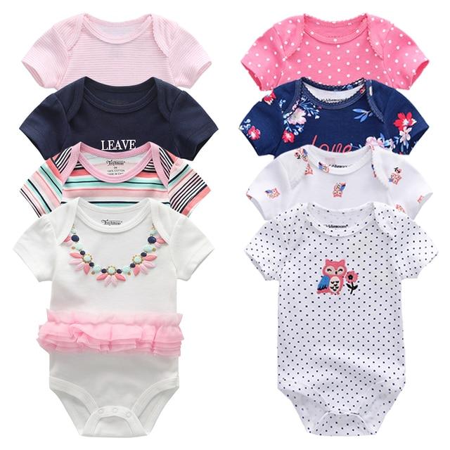 8 יח\חבילה יוניסקס בנות תינוק בגדי Bodysuits תינוקת בגדי Unicor תינוק ילד בגדי ילדה Dressn כותנה Roupas דה bebe