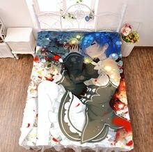 Anime Re Life zero Rem Ram  Print Bedsheet Micro Fiber Blanket Otaku Gift