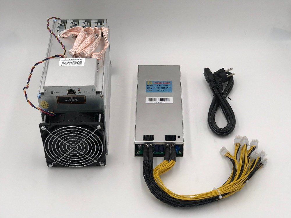 Old Miner  Ltc Miner  ASIC Miner With PSU  Miner ( 80%-90% New )Antminer L3 + 504 MH / S  LTC Mining Machine Better Than A4 A6