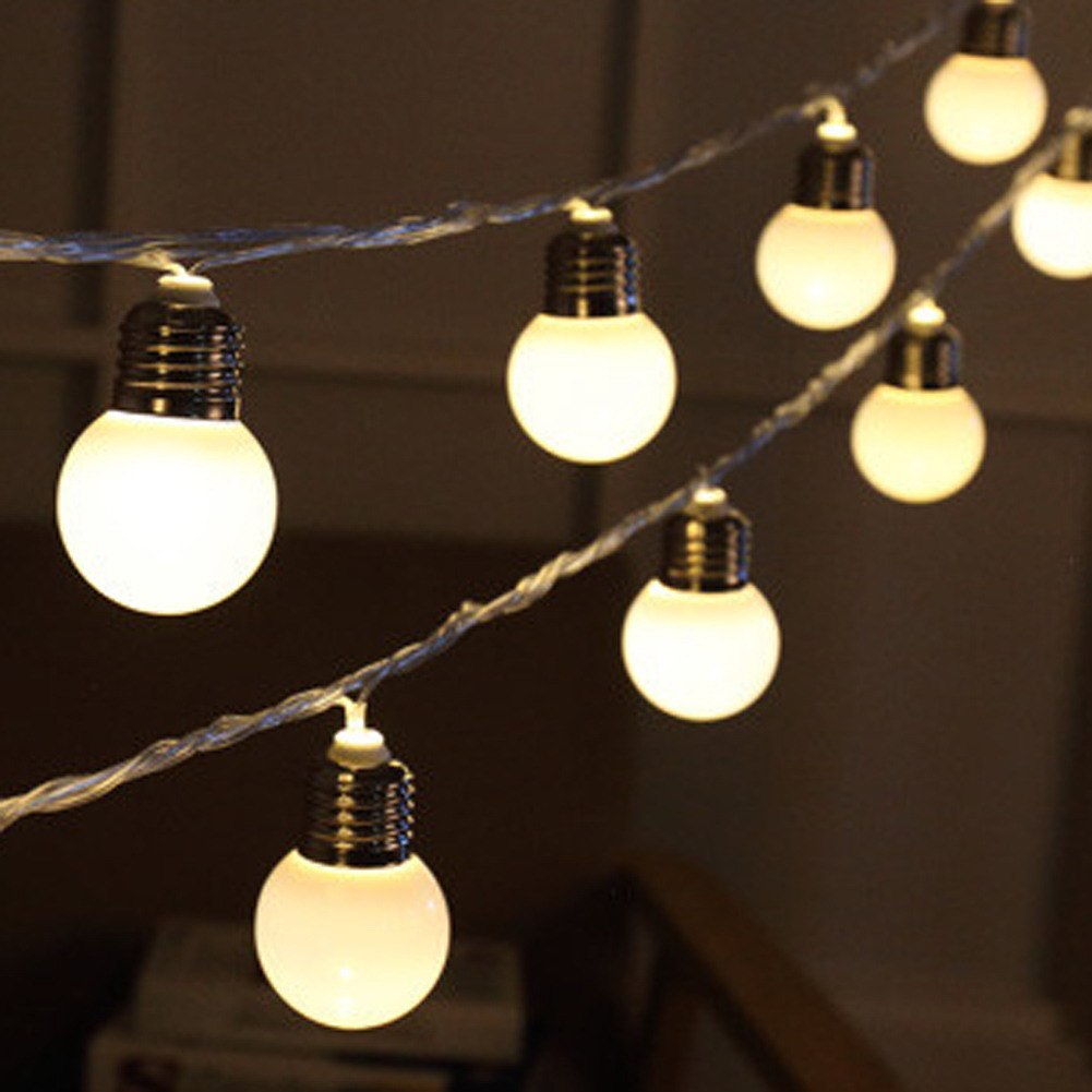 20 led globe christmas lights connectable holiday party decoration lamps fairy wedding outdoor garden pendant ball string lights in led string from lights