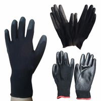12 Pairs M L XL Nylon PU Coated Work Gloves Safety Coating Builders Carpenters Garden Gloves