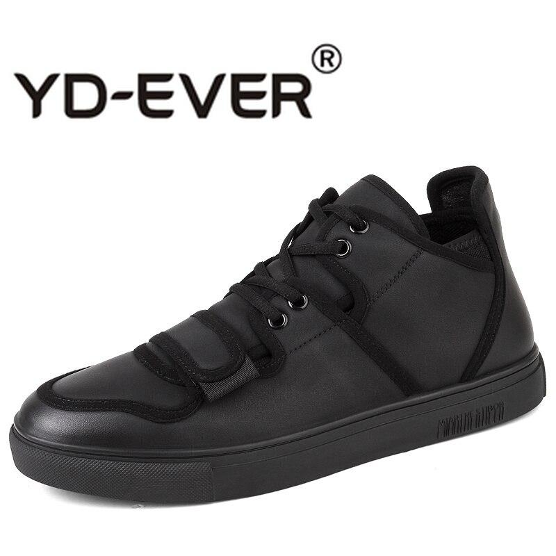 40f167a06f1 Casual Otoño Para Los Zapatos Negro Primavera Zapatillas Joven Suela Hombre  Goma Calzado Hombres De Moda Cómodos Plataforma n0ymNvw8O