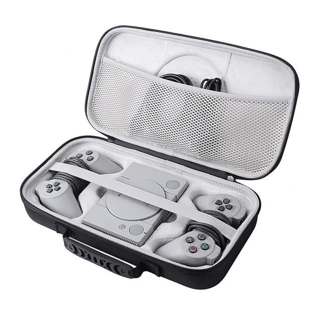2019 Nieuwe EVA Hard Carry Opslag Perfecte Bescherming Case voor Sony Playstation Classic Mini Console, 2 Controllers en Accessoires