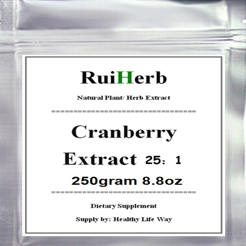 250gram 8.8oz Cranberry Extract Powder High Potency, Maximum Strength free shipping high quality for 150g green tea extract powder
