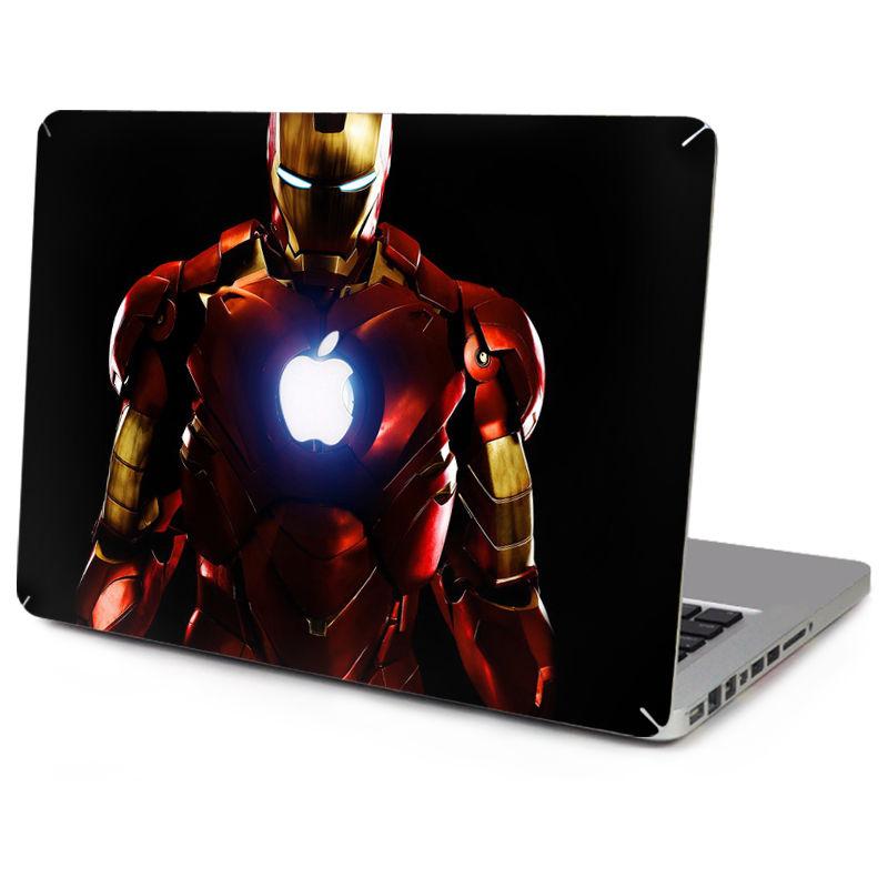 YCSTICKER 2018 New Laptop Sticker Top Vinyl Decal Waterproof Sticker Iron Man Skin for Macbook Air Retina Pro 11 12 13 15 Decal цена и фото