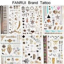 Star Moon Diamond Golden Metallic Tattoo Stickers Women Body Hands Art  Temporary Tattoo Sexy Girl Leg 4eb2be0d4b7b