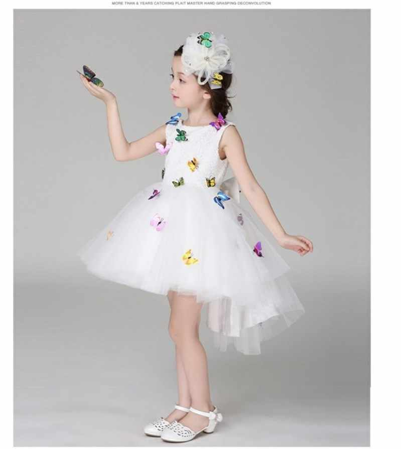 dc6119d496d4a Kid Girl Dress Baby Clothing Newest Infant Baby Girl Birthday Party Dresses  With 3D Butterfly Applique 9M-2T Free Shipping