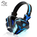 TTLIFE Cosonic Micrófono CD-618 Gaming Headset Estéreo con Control del Volumn de Luz LED