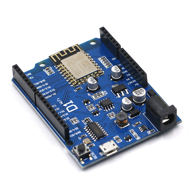 Free Shipping Smart Electronics ESP-12F WeMos D1 WiFi Uno Based ESP8266 Shield For Arduino Compatible IDE