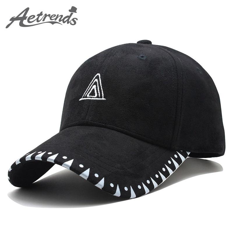 [AETRENDS] 2018 New Suede Fabric   Baseball     Cap   Men Women Cotton Snapback Hats Sport   Caps   Z-6264