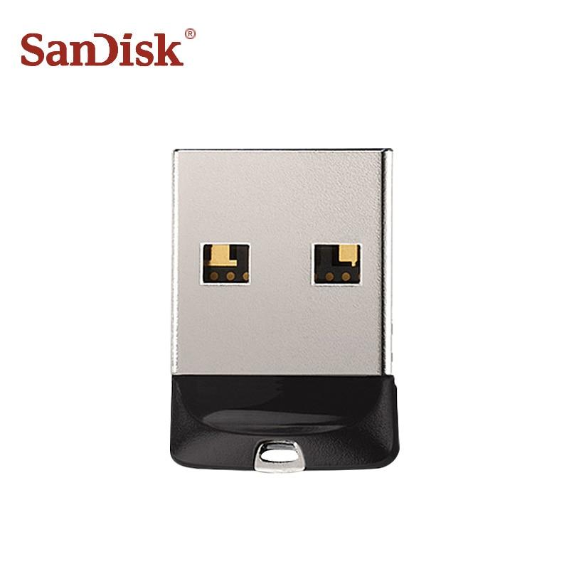 100 Original SanDisk USB 2 0 SDCZ33 Mini Pen Drives 64GB 32GB 16GB 8GB USB Flash
