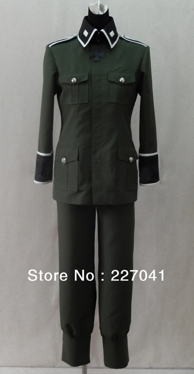 Axis Powers Hetalia Germany uniform cosplay costume Free Shipping