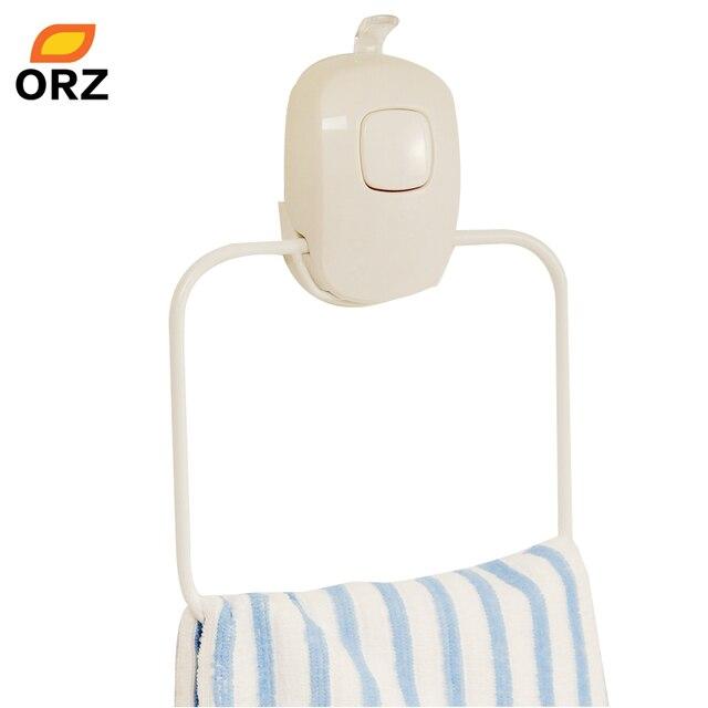 ORZ Towel Holder Rack Kitchen Bathroom Storage Organization Holder Vacuum Suction Cup Living Room Supplies Wall Hanger