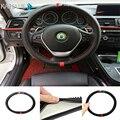 Anti-slip 38CM Steering Wheel Sports Cover Interior Decor for AUDI A1 A3 A4 A5 A6 A7 A8 RS R8 TT Q3 Q5 Q7