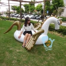 Summer Holiday 2.5m 98in Giant Inflatable Pegasus Horse Pool Float Unicorn Float Water Rafts Air Mattress Bed