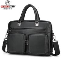 2017 Fashion Men PU Handbag Casual Briefcase Business Shoulder Black Leather High Quality Messenger Bag Handbag