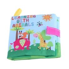 Baby Cloth Book Toy Teether Infant Learning Education with animals for Newborn Infantis Educational Toys