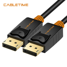Cabletime DisplayPort Cable 4K 60hz DP to DP Cable Display Port Adapter Cord 1.2 Video Audio 2M for HDTV Projector PC N079