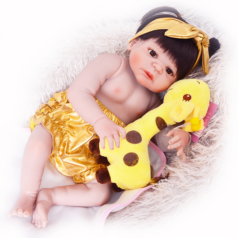 57 cm full vinyl body reborn babies doll toy realistic new born girl infant 23 39 39 lifelike baby. Black Bedroom Furniture Sets. Home Design Ideas