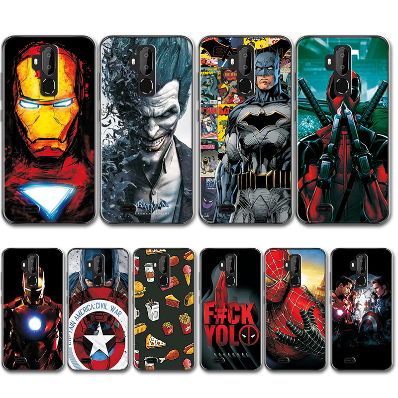 Captain America Back Cover For Oukitel C12 Pro Case C12Pro Novelty Superhero Silicone Phone Case Bumper For Oukitel C12 Pro 6.18 image